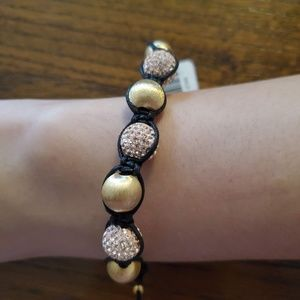 Milor Italy gold beaded adjustable bracelet
